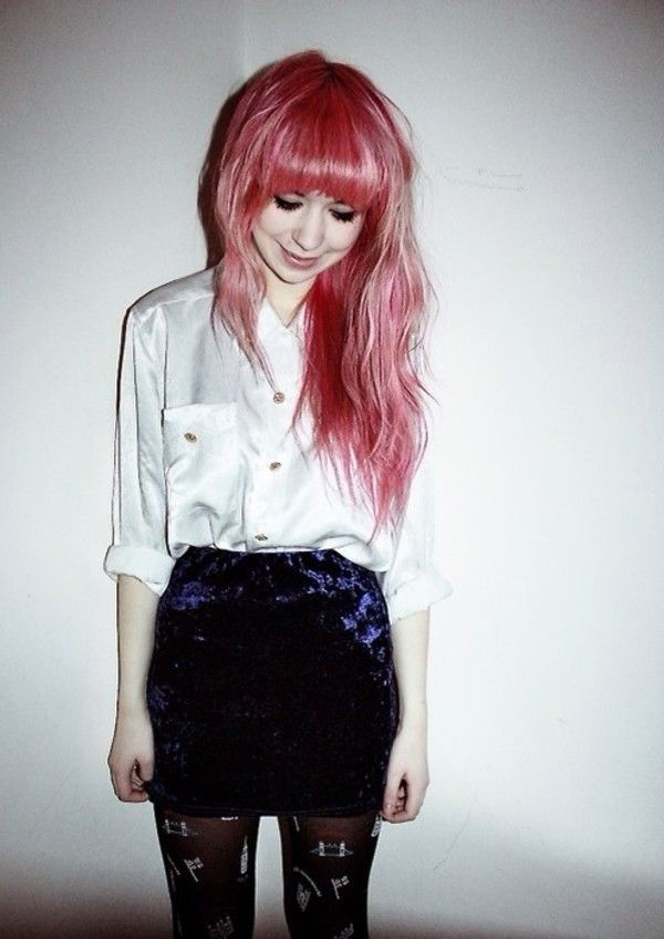 blouse grunge white tumblr skirt