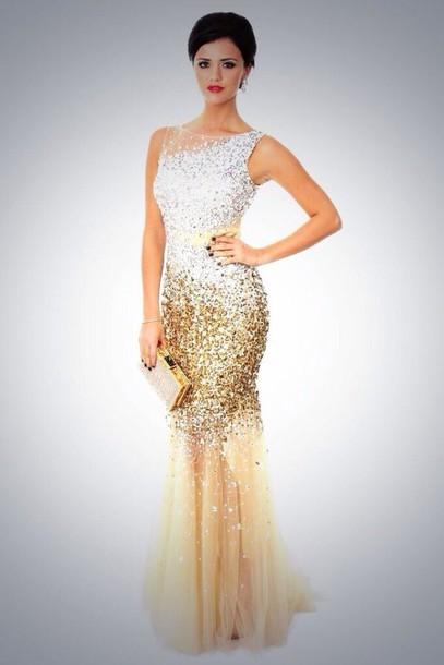 dress prom dress gold sequins sequin dress gold dress mermaid prom dress earphones