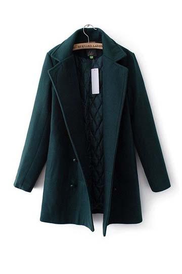 Double Breasted Warm Woolen Coat [FEBK0538] - PersunMall.com