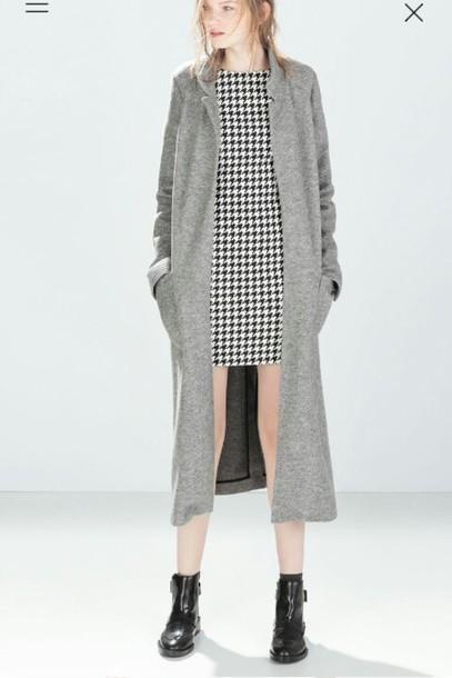 coat dress long boots