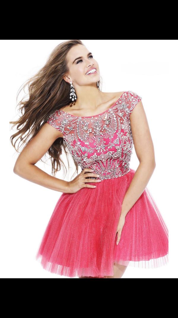 prom dress dress pink dress sequin dress homecoming dress dress