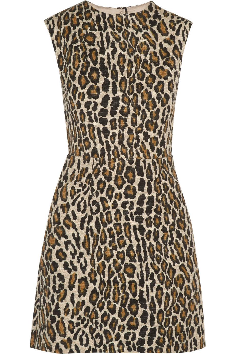Coco leopard-print cotton-blend mini dress | THE OUTNET