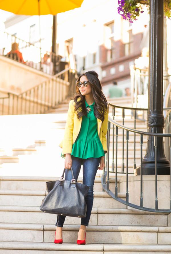 wendy's lookbook t-shirt jacket bag shoes sunglasses jewels