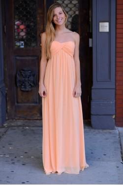 Grecian Coral/Peach Dress
