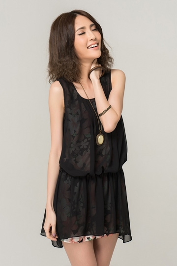 Double Layers Chiffon Vest Dress [FXBI00288]- US$49.99 - PersunMall.com