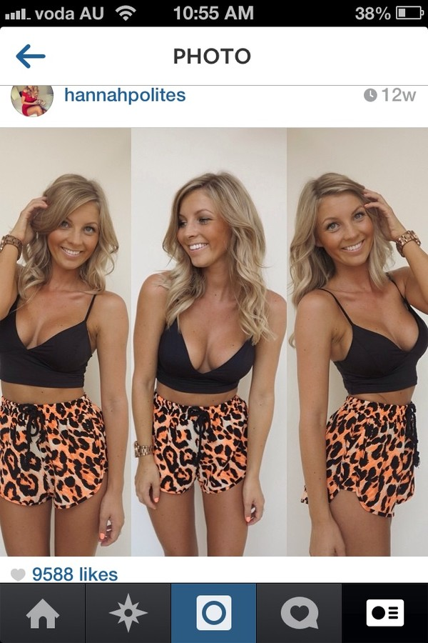 shorts shorts leopard printed running tank top