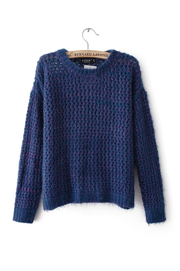 Europe Double Color Blended Sweater [FKBJ10301] - PersunMall.com