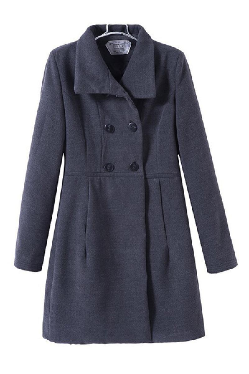 Autumn & Winnter Long Sections Lapel Woolen Overcoat,Cheap in Wendybox.com