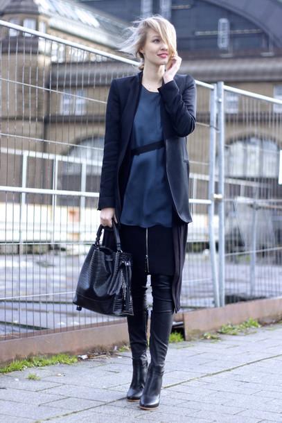 ohh couture blogger silk blazer navy handbag