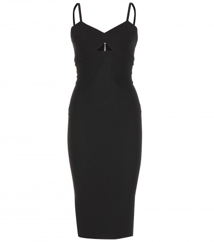 mytheresa.com -  Cut-out silk and wool-blend dress - Knee-length - Dresses - Clothing - Luxury Fashion for Women / Designer clothing, shoes, bags