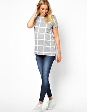 ASOS Maternity | ASOS Maternity Exclusive T-Shirt in Check at ASOS