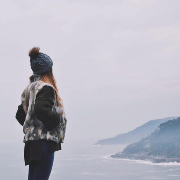 winter outfits fur fur coat grey denim jeans coat jacket winter coat outfit skinny jeans winter jacket knitted beanie black beanie grey beanie winter sweater winter swag outfit idea fall outfits