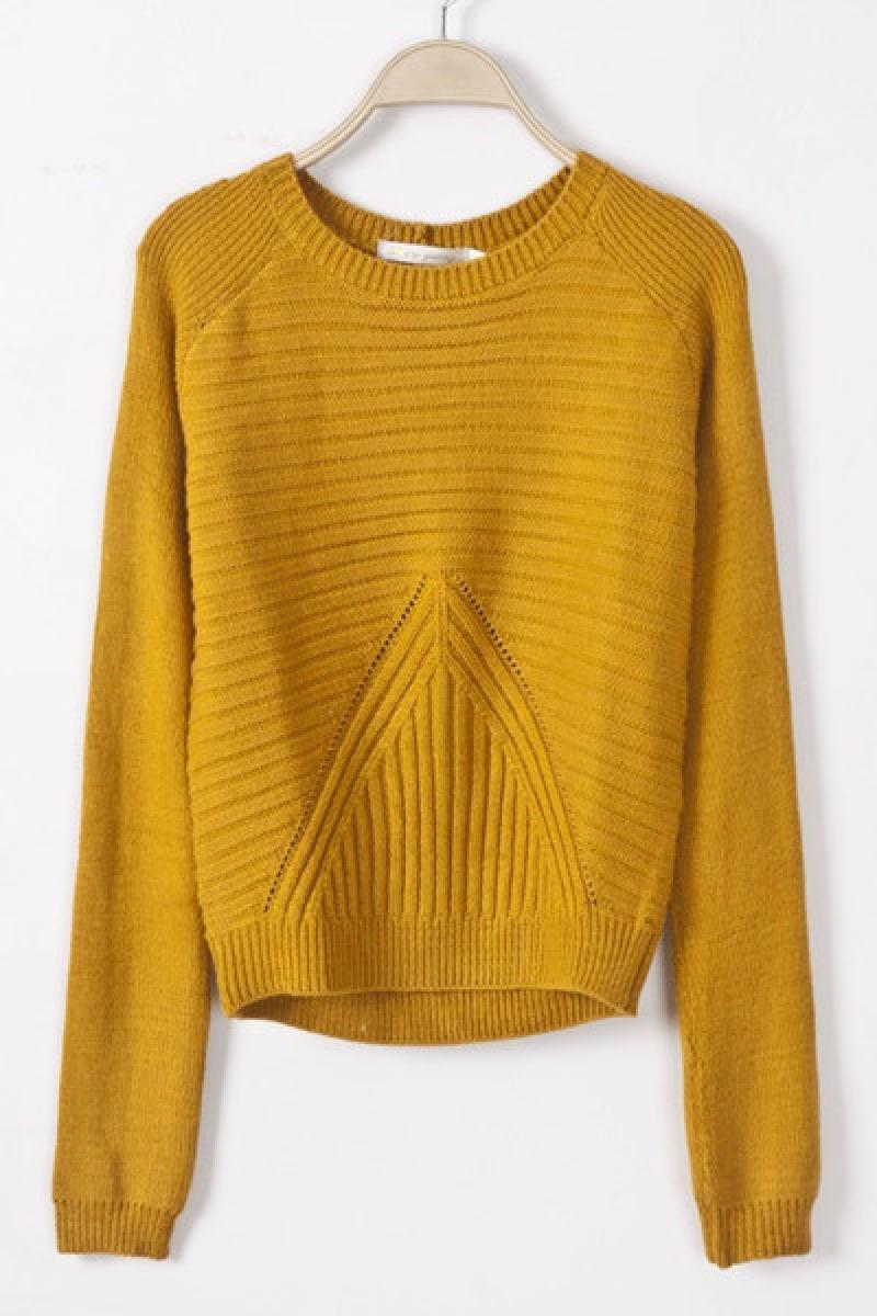 New Individual Fashional Pure Color Pattern Pullover Sweater,Cheap in Wendybox.com