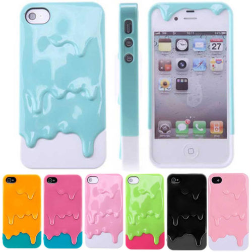 3D Melt Ice Cream Skin Protect Hard Case Cover for Apple iPhone 4 4S 5 5g 9Color   eBay