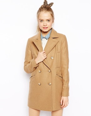 ASOS | ASOS Peacoat with Double Breasted Detail at ASOS