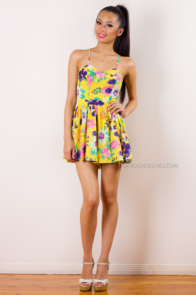 Finders Keepers Floral Playsuit – Honey Peaches