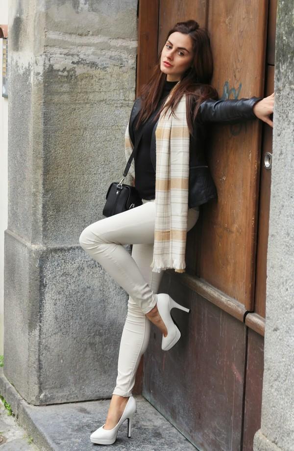 marie zamboli bag pants scarf shoes jewels