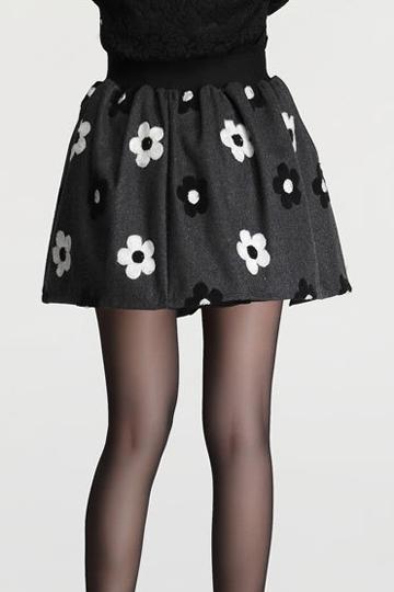 Sweet Lady Flower Pattern Mini Skirt [FMCC0194]- US$15.99 - PersunMall.com