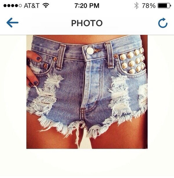 shorts jeans ripped ripped shorts acid wash embellished studded