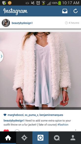 jacket comfy faux fur silk white coat white jacket fur warm veste manteau blanc fausse fourure
