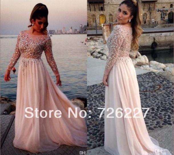dress prom dress long sleeve dress long prom dress