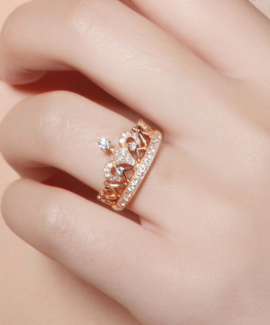 Buy Excellent Royal Design Crown Ring SONA Synthetic Diamond