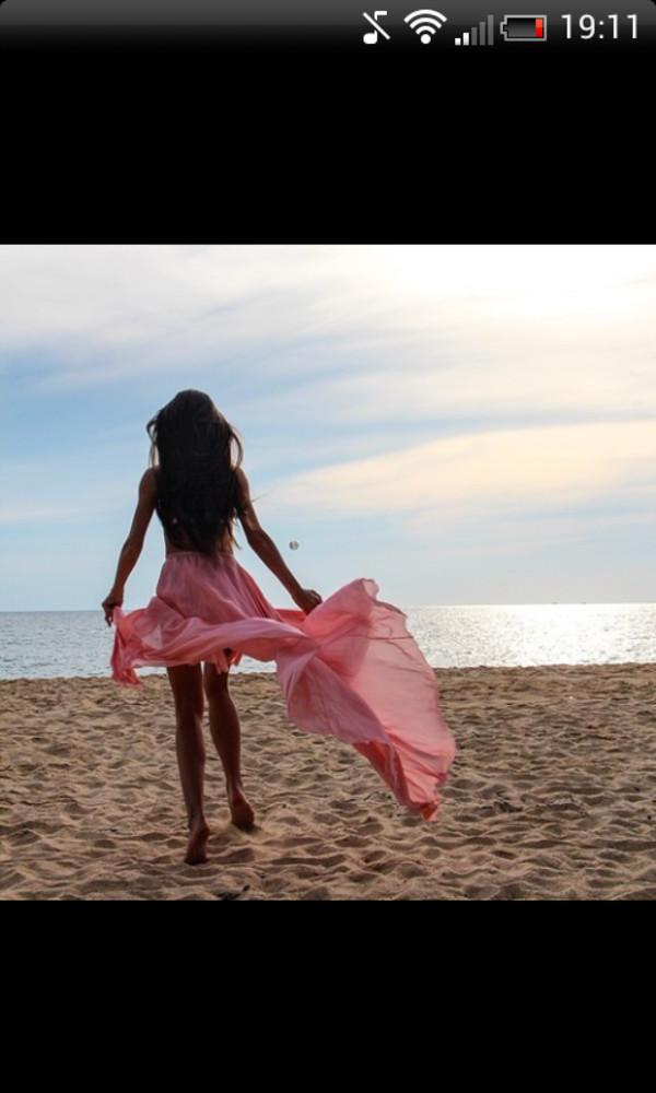 skirt fashion pink beautiful beach