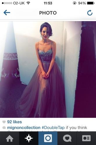 mignon formal dress dress gown floaty embellished jewels purple dress prom dress long prom dress backless dress pll ice ball