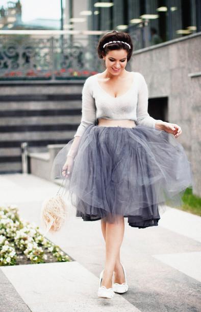skirt tutu skirt adult grey