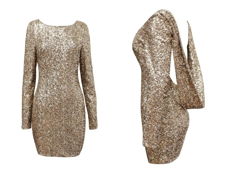 Aliexpress.com : Buy free shIpping .Fashion major Halter back sequin dress open back long sleeve backless bodycon party dress 301 from Reliable dresses fashion suppliers on ED FASHION