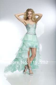 Aliexpress.com : Buy Custom Made Free Shipping Charming Sexy V Neck Chiffon Prom Dresses 2014 Floor Length Mermaid Evening Gowns 2014 New Arrival from Reliable satin short dress suppliers on readdress
