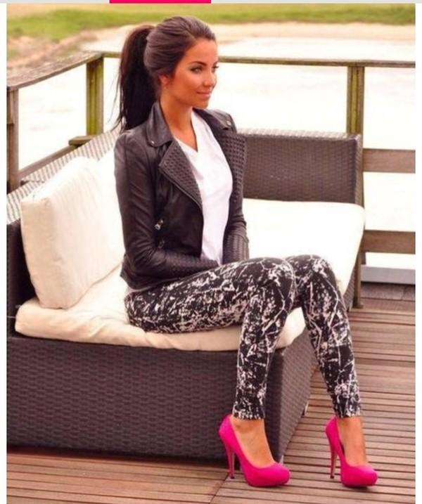 jeans pants leggings grey black jacket