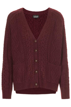 Cable Knit Cardigan - Knitwear - Clothing - Topshop