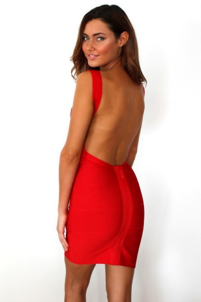 dress red bandage open back dresses bandage dress mini dress