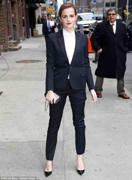 pants emma watson classy office outfits blazer tailoring