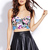 Electric Floral Crop Top | FOREVER21 - 2000072956