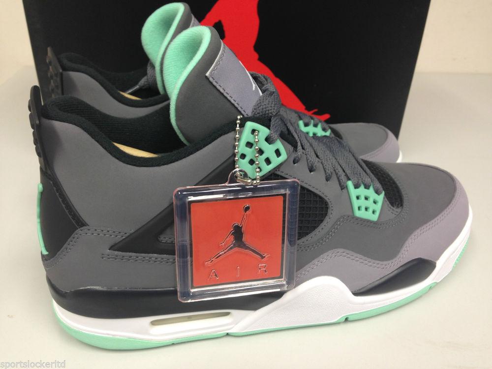 Nike Air Jordan 4 Retro IV Green Glow All Sizes 308497 033 SportsLocker | eBay