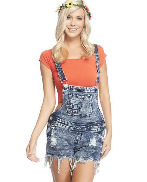 Almost Famous Acid Wash Shortall  | Wet Seal