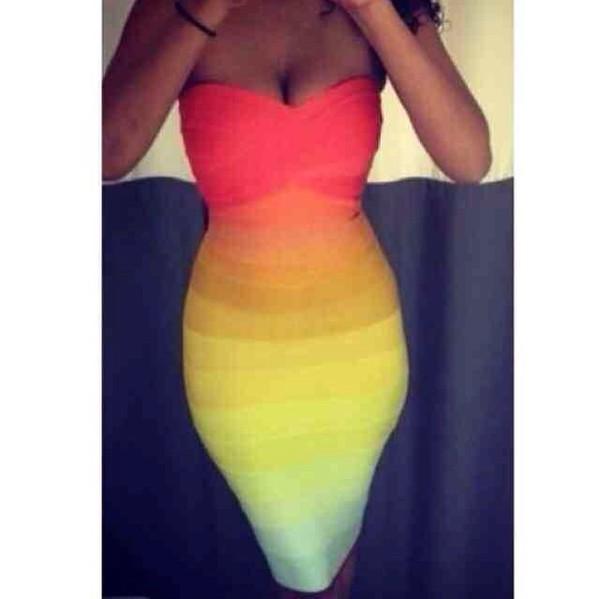 red orange yellow green blue purple black white grey brown bodycon dress bandage on sale