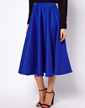 ASOS | ASOS Full Midi Skirt in Scuba at ASOS