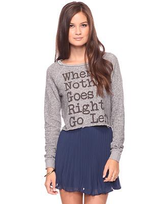 Forever 21: Go Left Pullover (in light grey)