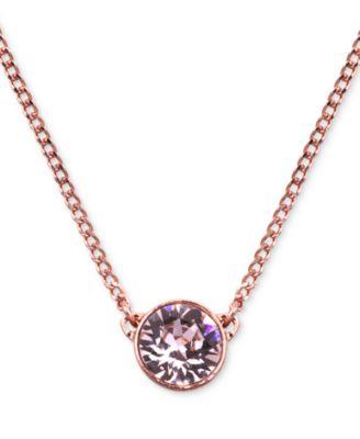 Givenchy Necklace, Gold-Tone Swarovski Element Pendant Necklace - Fashion Jewelry - Jewelry & Watches - Macy's