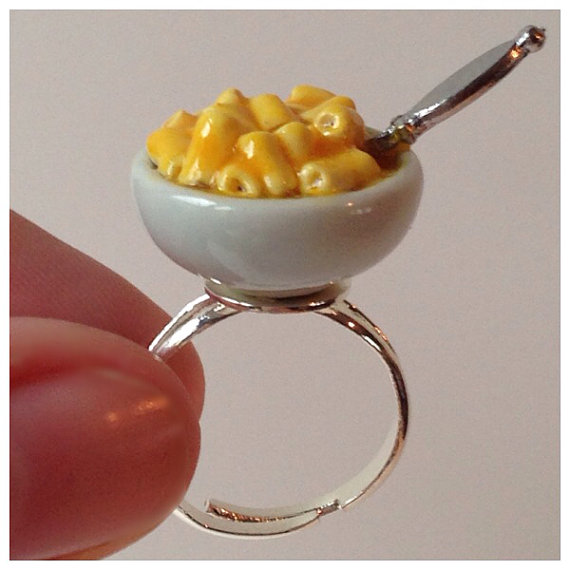 Macaroni & Cheese Ring See lead time by CaseysMiniShop on Etsy