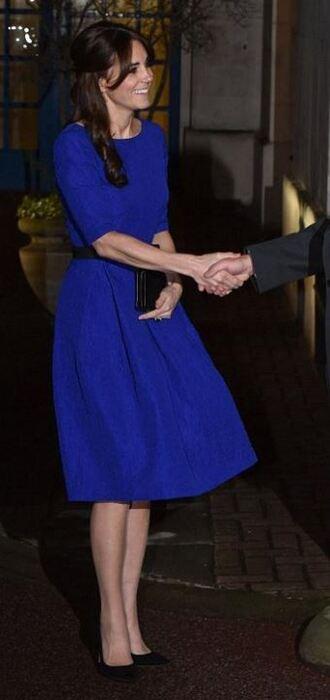 dress midi dress kate middleton pumps blue blue dress