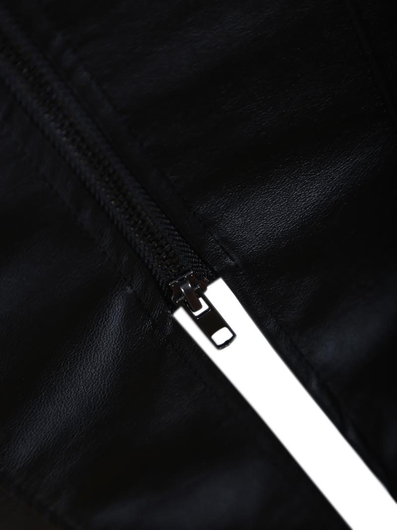 Black Zipper Split Bodycon Skirt - Sheinside.com