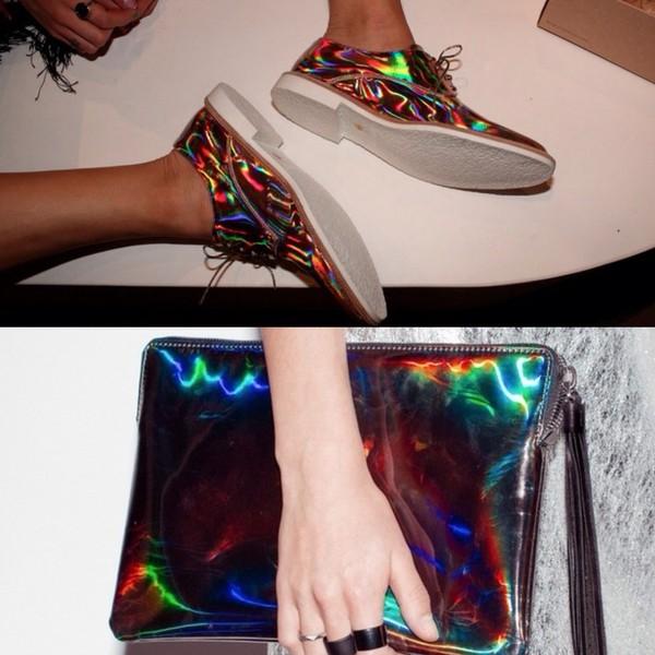 shoes oxfords clutch purse