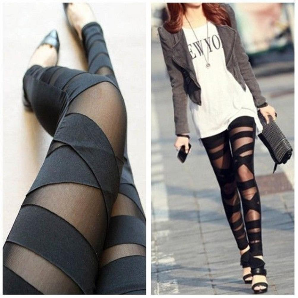 New Fashion Womens Ripped Sexy Stretch Vintage Leggings Pants Black  from RemiDress on Storenvy