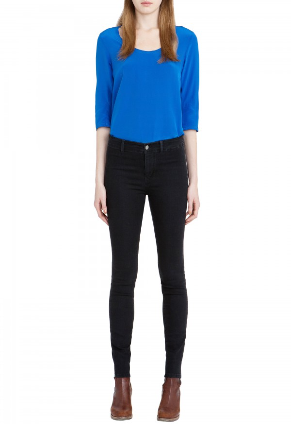 The BODYCON Jean - HIGH RISE, SKINNY LEG - Faded Black - MiH Jeans