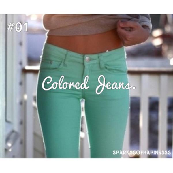 jeans aqua blue skinny