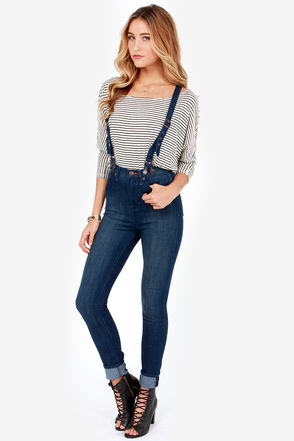 Dittos Santana Jeans - Skinny Jeans - Suspender Jeans - $99.00